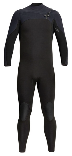 XCEL PHOENIX MENS 5/4MM CHEST ZIP WETSUIT - BLACK - Stokedstore