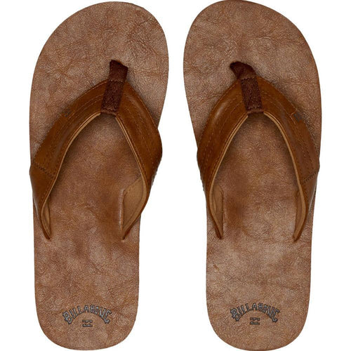 Billabong Seaway Classic Flip Flops: Antique | Chocolate - Mens - Stokedstore
