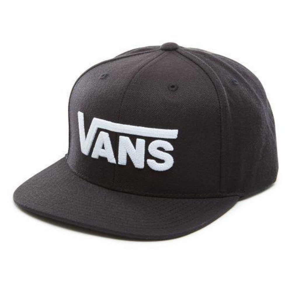 Vans-drop-5-II-Snapback-cap-black-white-heather-grey-mens