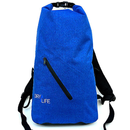 Dry Life 21 Litre Waterproof Soft Tarp Backpack: Blue | Grey | Red - Stokedstore