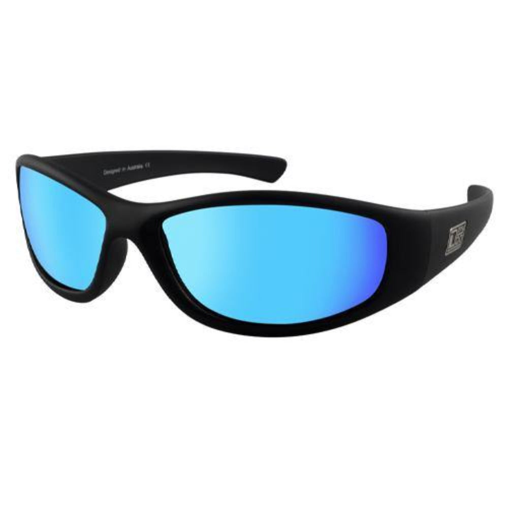 Dirty Dog Boofer Sunglasses: Black/Blue - Stokedstore