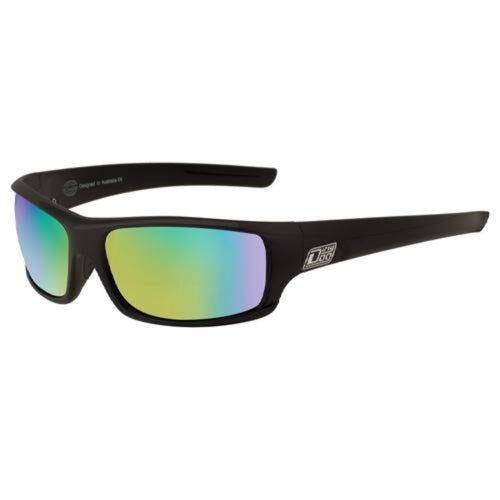 Dirty Dog Clank Sunglasses: Black/Green/Green Fusion Mirror Polarised - Stokedstore