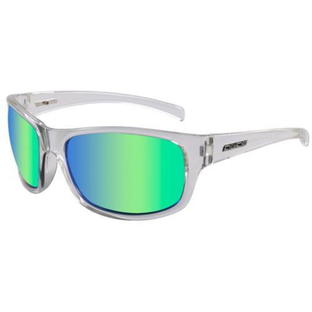 Dirty Dog Shock Sunglasses: Clear/Green Fusion | Black/Green - Stokedstore
