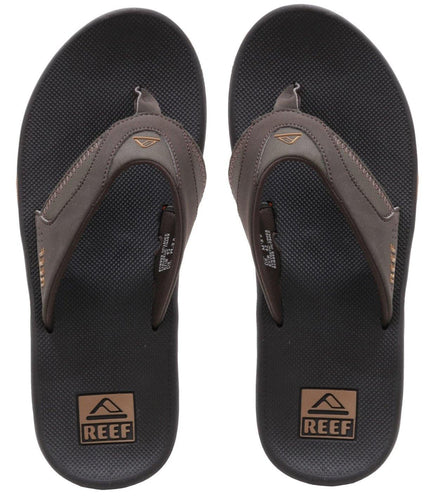 Reef Fanning Flip Flops: Brown/Gum | Grey/Light Blue - Mens - Stokedstore