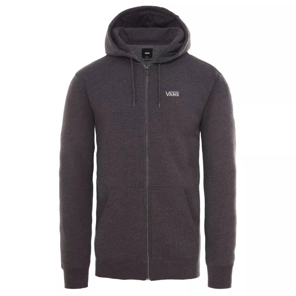 Vans Basic Zip Hoodie: Black Heather - Mens - Stokedstore