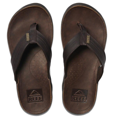 Reef J-Bay III Flip Flops: Dark Brown/Dark Brown - Mens - Stokedstore
