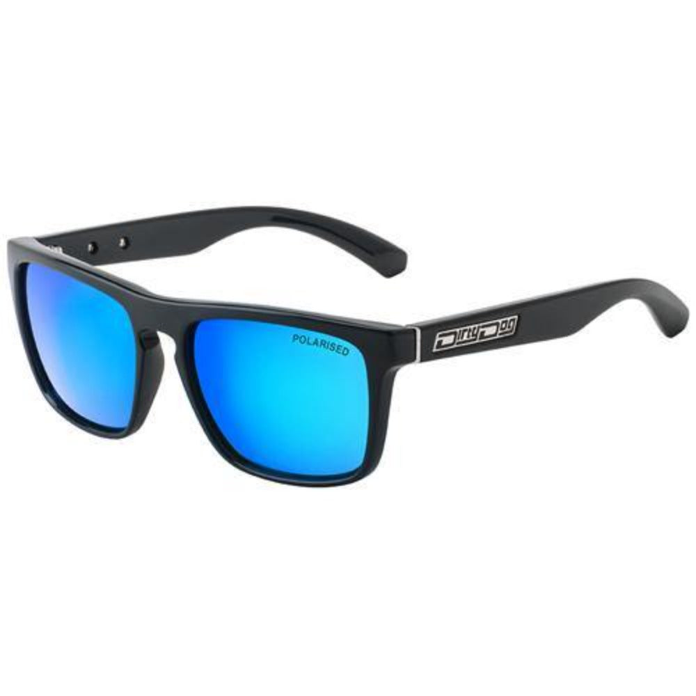 Dirty Dog Monza Sunglasses: Black/Blue - Stokedstore