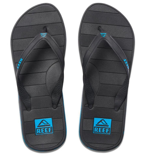 Reef Switchfoot Lx Flip Flops: Black/Blue - Mens - Stokedstore