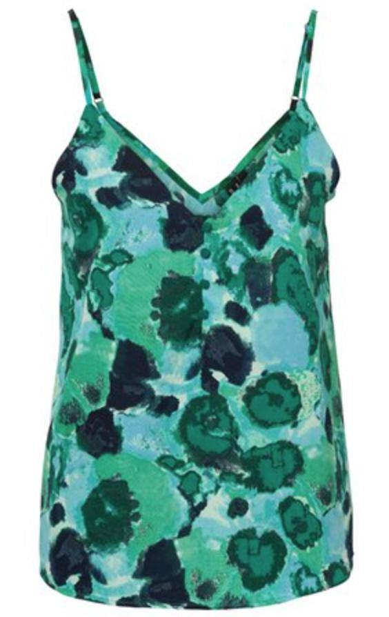 Vero Moda Waleria Button Singlet Top: Mint Green - Ladies - Stokedstore