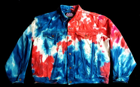 ON SALE $100 Red White & Dube Tie Dye Jean Jacket The Gap men and women sizes