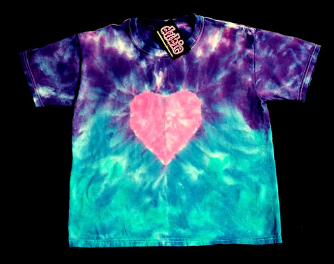 Children's  Love Purple Tie Dye Shirt