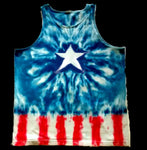 Star Spangled Peace Tank Top Tie Dye Shirt