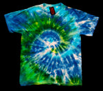 Green & Blue Spiral Tie Dye Shirt
