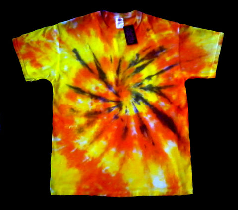 Orange Spiral Tie Dye Shirt
