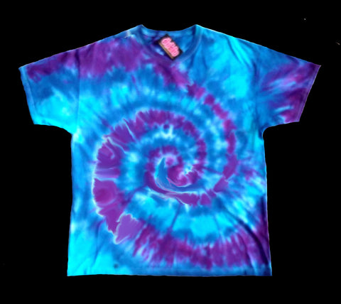 Purple Spiral Tie Dye Shirt