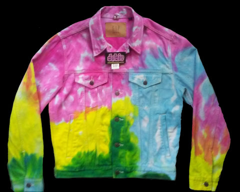 ON  SALE $100  Pastel Tie Dye Jean Jacket The Gap men and women sizes
