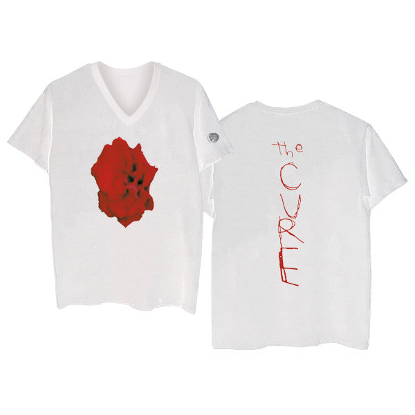 Bloodflowers White V-Neck T-shirt