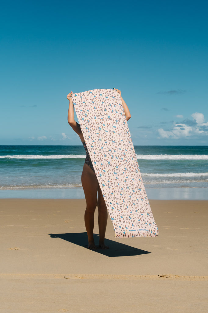 Beach Leopard in Peach Yoga Mat