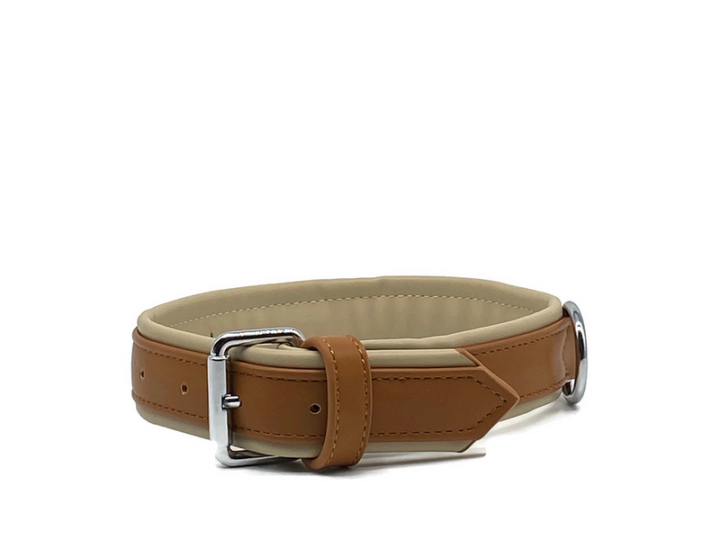 Luxury Dog Collar Brown/Tan