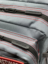 45L Backpack Anvil Gray Red Stitch