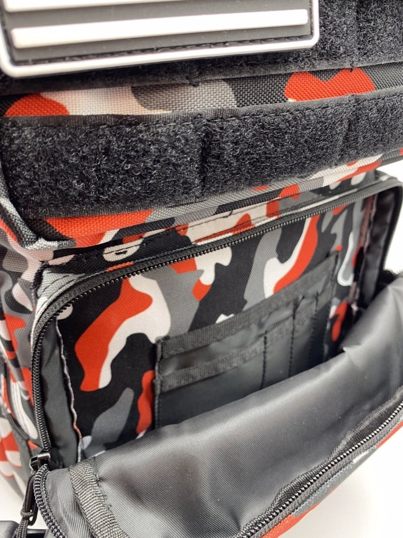 25L Backpack Black & Red Camo