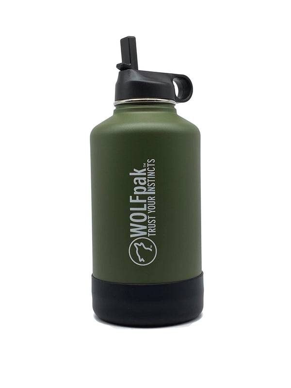 64oz Flask Olive Green