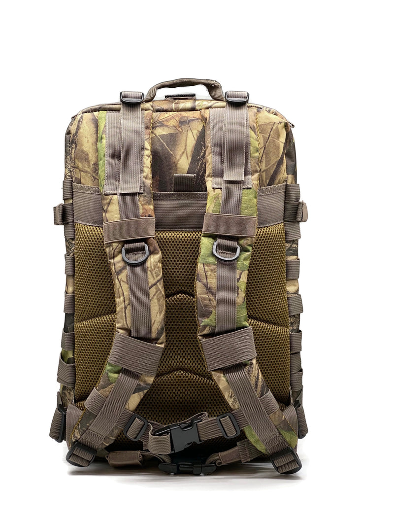45L Backpack Wood Camo White Zipper
