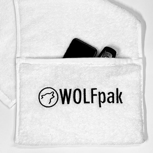 White Gym Towel w/Pocket