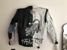 Load image into Gallery viewer, custom painted biker jacket