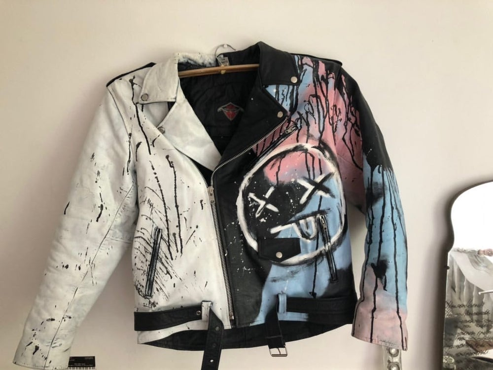 custom painted biker jacket
