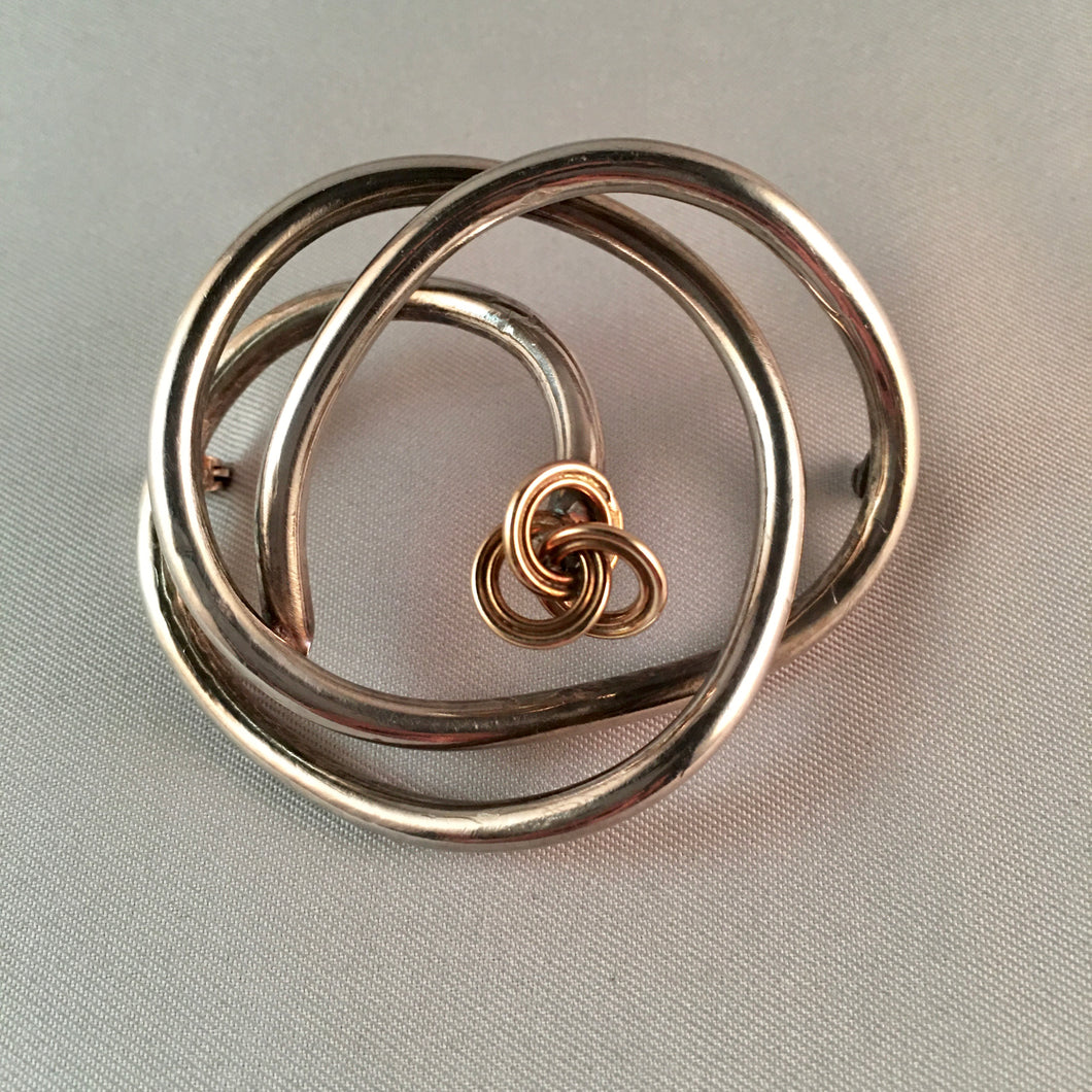 Knotted Silver Pin