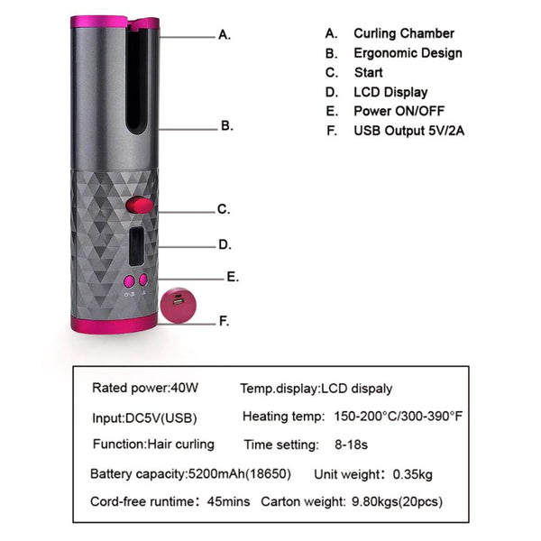 Portable Automatic Hair Curler