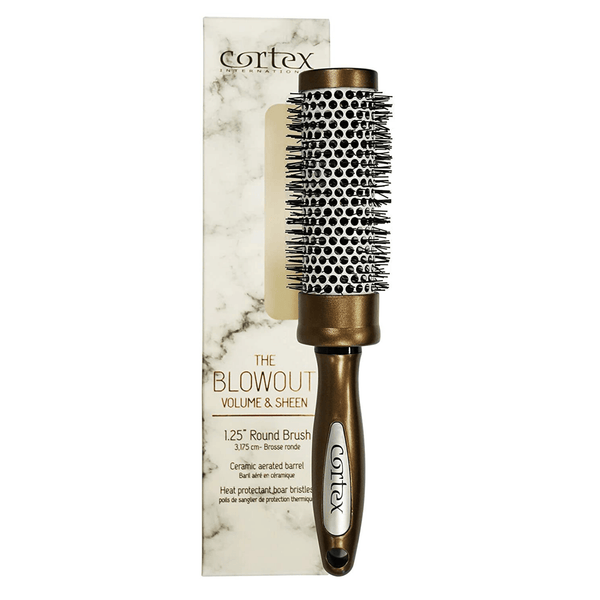Cortex International Volume & Sheen Round Blowout Hair Brush | Ceramic