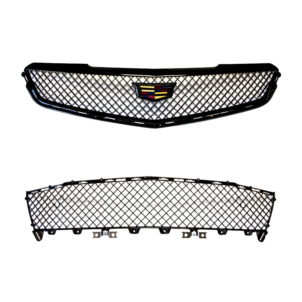 ATS-V Blacked Out Upper & Lower Grille with Emblem