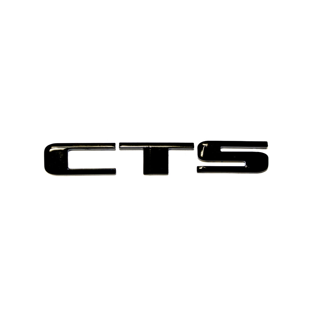 "CTS-V Blacked Out ""CTS"" Trunk Letters"