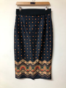 GDG Actuel Navy Fitted Skirt Size Small