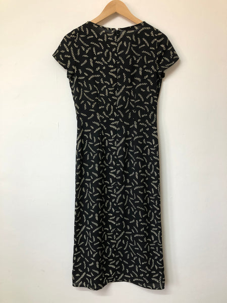 Linea Black and Cream Wheat design Dress Size 8