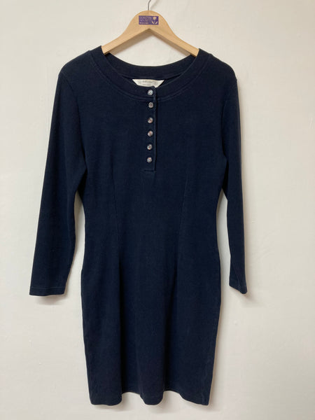 St Michael Fitted Long Sleeve Cotton Dress Size 14