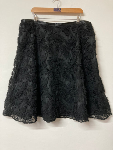 Laura Ashley Black Occasion Skirt Size 20