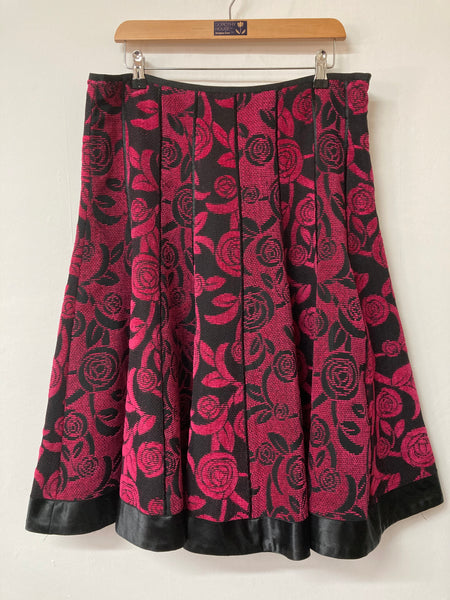 Pink and Black Fit & Flare Per Una Skirt Size 16
