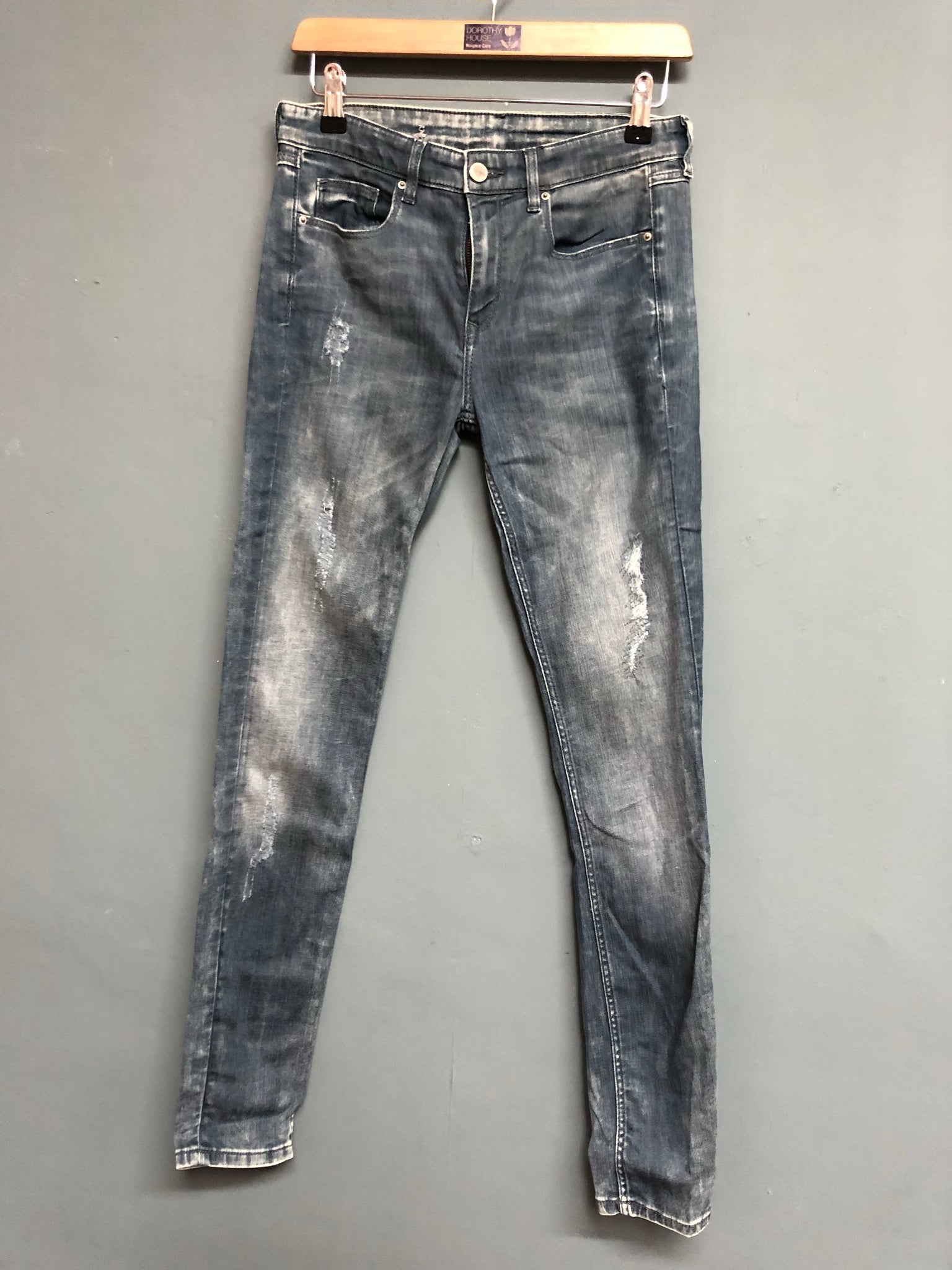 Esprit Denim Skinny Fit Distressed Jeans Size 8