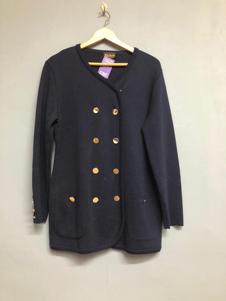 Vintage longline navy cardigan Dalkeith size 14
