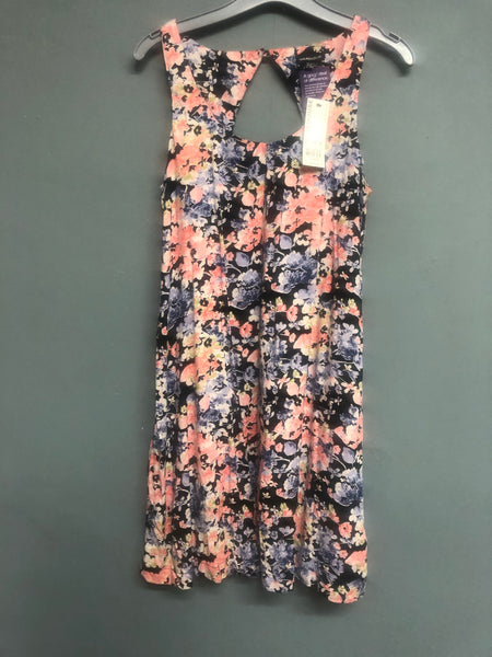 Warehouse Blue and Pink Floral Dress Size 14 BNWT