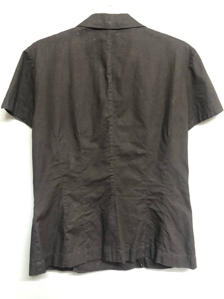 Black Mondi Short sleeve top Size 36 UK10/12