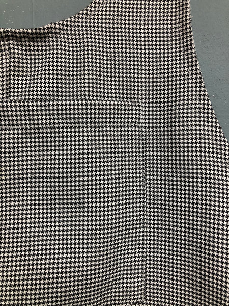 Pull and Bear Mini Dogtooth Dungaree Dress Size Small