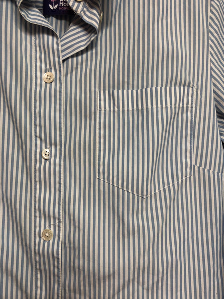 Jigsaw Blue Striped Long sleeve Shirt Size 8