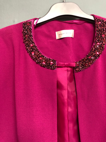 Pink Sequin Detail Jacket Size 14