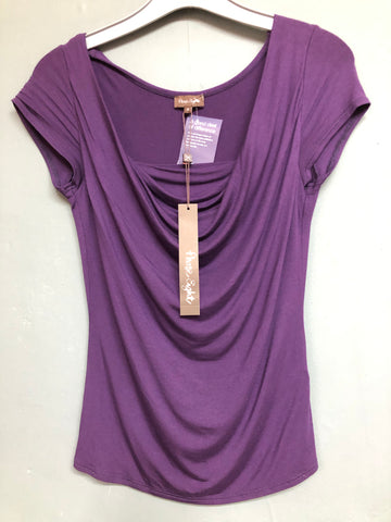 Ladies Phase Eight Cap Sleeve Purple Top Sz 8 BNWT