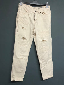 EDC By Esprit Denim Fashion Fit White Distressed  Jeans Waist EUR 34 UK 6
