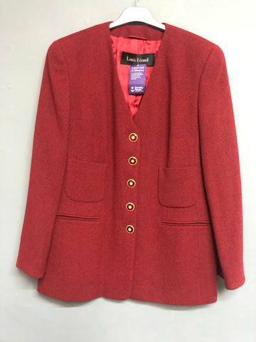 Red Louis Feraud  Jacket Size 18